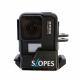 GoPro Camera Holder Rogeti Slopes Black Edition with HERO7 Black Possible Angle