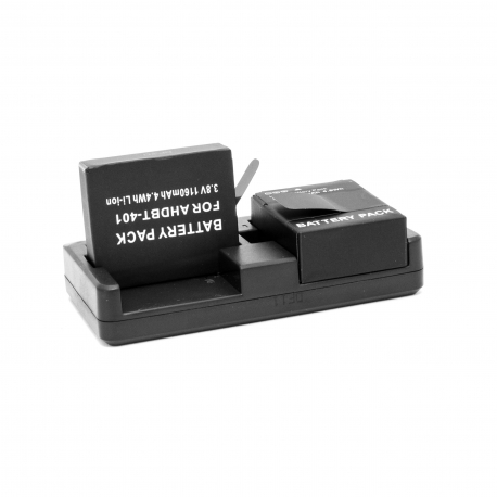 Universal dual charger for GoPro 3/3+/4