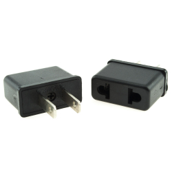 EU to US (type A) plug adapter