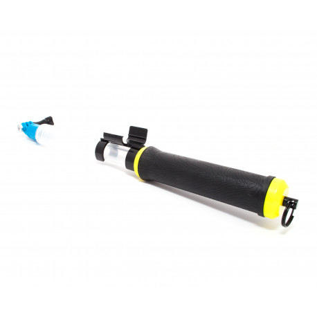 Transparent floating extension pole for GoPro