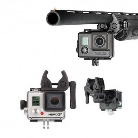 Спортивное крепление для GoPro на оружие, удочки и арбалеты (надета GoPro HERO3)
