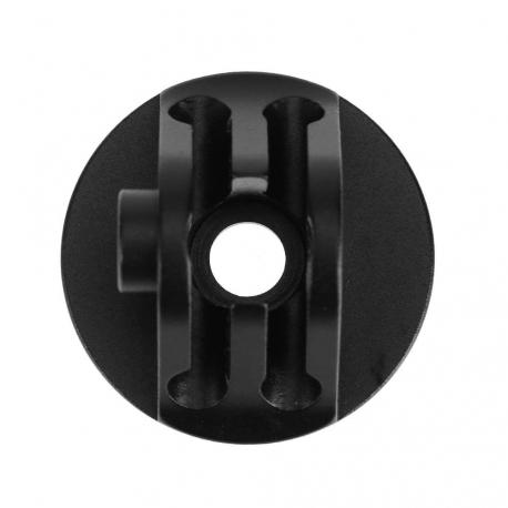 Крепление-трипод со сквозным отверстием для GoPro черный (вид сверху)