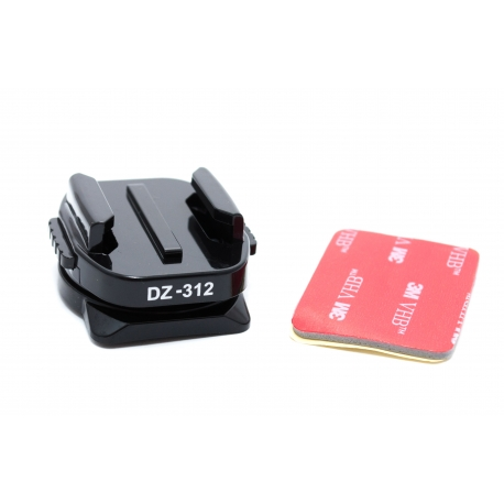 360° rotating curved adhesive mount for GoPro