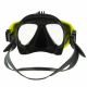 Diving mask with mount for GoPro look in-between