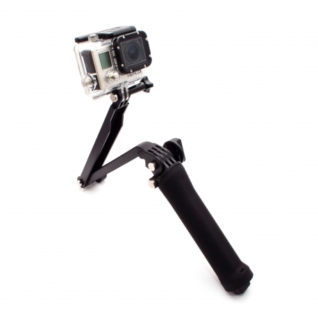 Foldable monopod for GoPro 3-Way