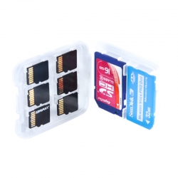Storage case for 6x MicroSD memory cards and SD-adapter