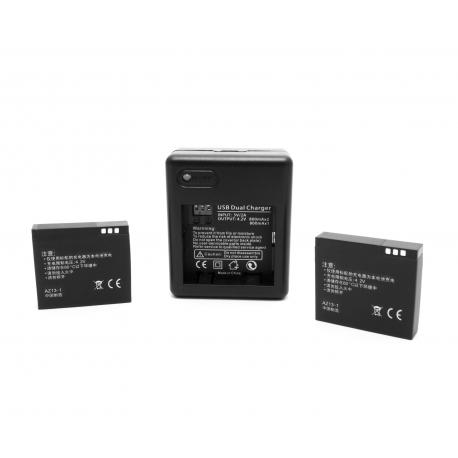 Комплект USB зарядка + 2 батареї для Xiaomi Yi Sport Camera (вигляд ззаду)