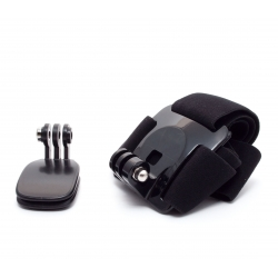 Set of head and hat mounts for GoPro