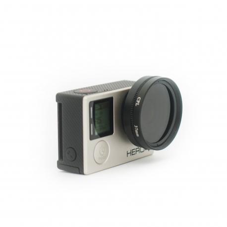 CPL фильтр 37мм (надет на GoPro HERO4)
