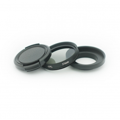 37 mm filter adapter with CPL filter for GoPro