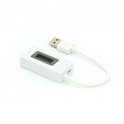 USB-тестер 3-в-1 з кабелем (білий)
