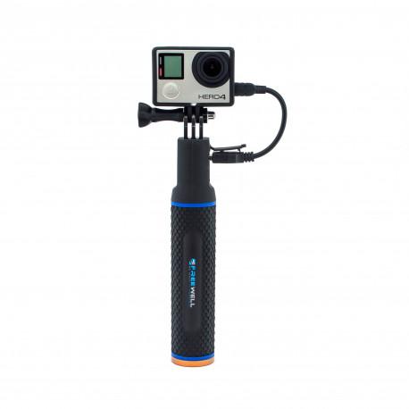 Монопод-зарядка для GoPro - Power Hand Grip (надета GoPro HERO4)