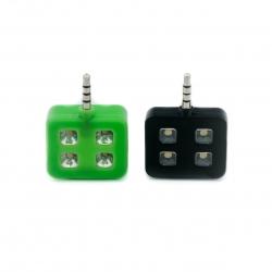 Подсветка для селфи 4LED (черный,зеленый)
