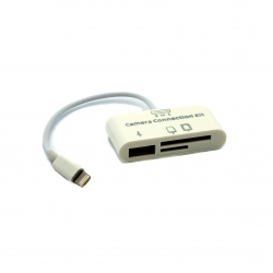 Lightning кардридер для iPad с кабелем (крупный план)