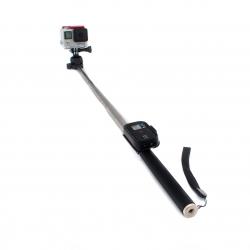Монопод 109 см з кріпленням-кліпсою для пульта GoPro (з пультом та камерою)