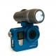 Алюминиевый корпус для GoPro 4 (с фонарем)