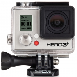 Экшн-камера GoPro HERO3+ Black Edition (крупный план)