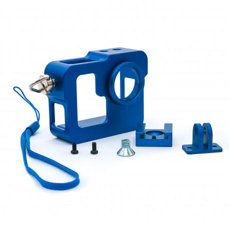 Алюминиевый корпус для GoPro 3 (набор синий)
