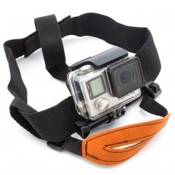 Крепление для GoPro на голову с ремнем (вид спереди)