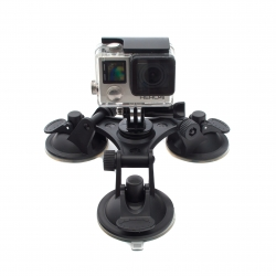 Tri-angle suction cup mount for GoPro