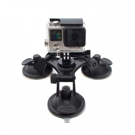 Трикутна присоска для GoPro (з камерою)
