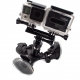 Ballhead tri-angle suction cup mount for GoPro