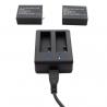 USB зарядка для SJCam на 2 батареи (крупный план)