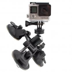 Трикутна присоска з шарнірною головкою для GoPro (з камерою)