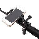 Phone mount on monopod for GoPro