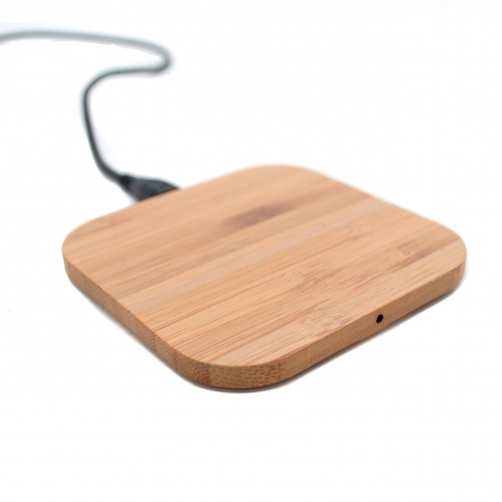 Wooden QI wireless charging pad