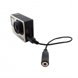 10 pin miniUSB - 3.5 f adapter with chip for GoPro microphone