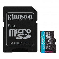 Карта памяти Kingston Canvas Go! Plus microSDXC 128Gb UHS-I, U3, V30, A2