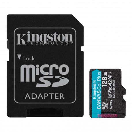 Карта памяти Kingston Canvas Go! Plus microSDXC 128Gb UHS-I, U3, V30, A2, главный вид
