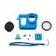 Алюминиевый корпус для GoPro 4 (голубой)