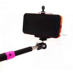 Селфи палка с кнопкой для iPhone и Samsung (надет телефон)