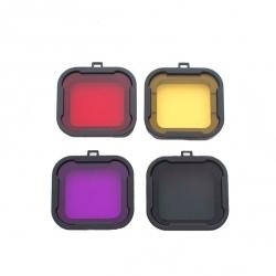 Набор подводных фильтров для GoPro HERO4 (полный) (4 цвета)