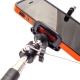Селфи палка с кнопкой для iPhone и Samsung (крепление, надет iPhone)