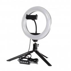 Кольцевая LED лампа PHS 20 см на настольном штативе