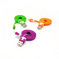 Micro USB кабель 1м для Samsung, HTC (три кольори)
