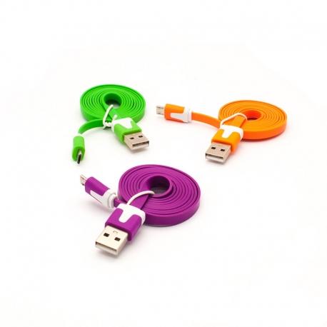 Micro USB кабель 1м для Samsung, HTC (три цвета)