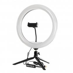 Кольцевая LED лампа PHS 26 см на настольном штативе