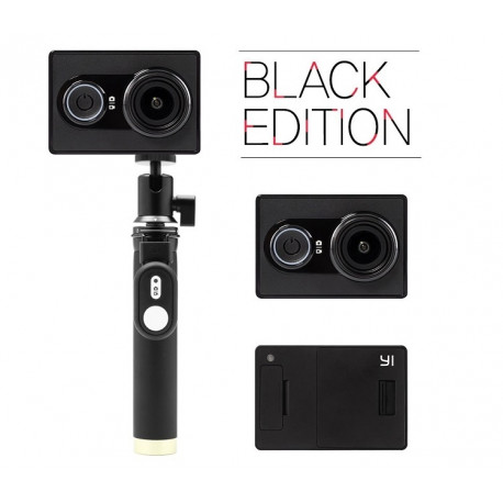 Action camera Yi Sport Black Travel International Edition + Remote control button