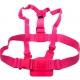 Цветное крепление для GoPro на грудь (розовый)