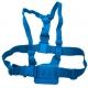Цветное крепление для GoPro на грудь (синий крупный план)