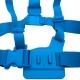 Цветное крепление для GoPro на грудь (синий)