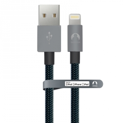 MFi data-cable for iPhone/iPad Snowkids 1.5 m braided