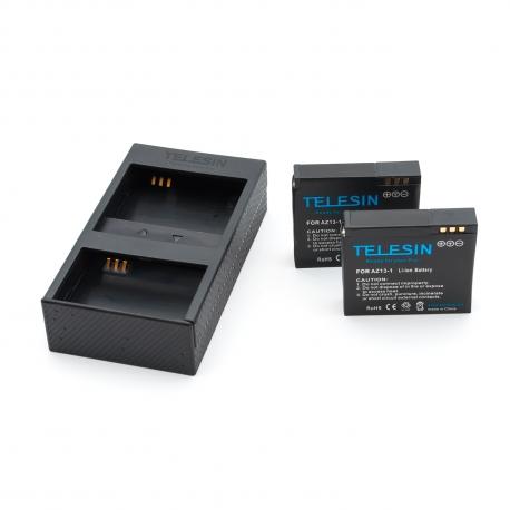 Комплект Telesin USB зарядка + 2 батареи для Xiaomi Yi Sport (крупный план)