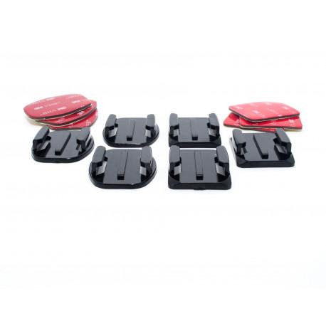 Комплект площадок для GoPro (3 плоскі та 3 вигнуті)