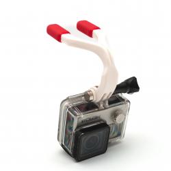 Держатель для GoPro в зубы - с камерой
