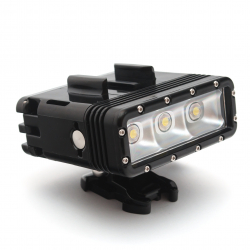 Подводный фонарь Telesin для GoPro (крупный план)